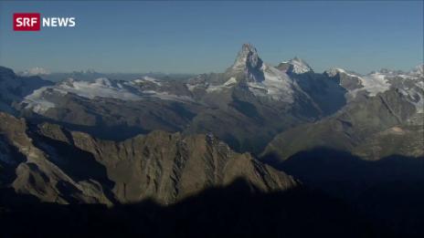 Link öffnet eine Lightbox. Video Hüttenwart beim Matterhorn abspielen