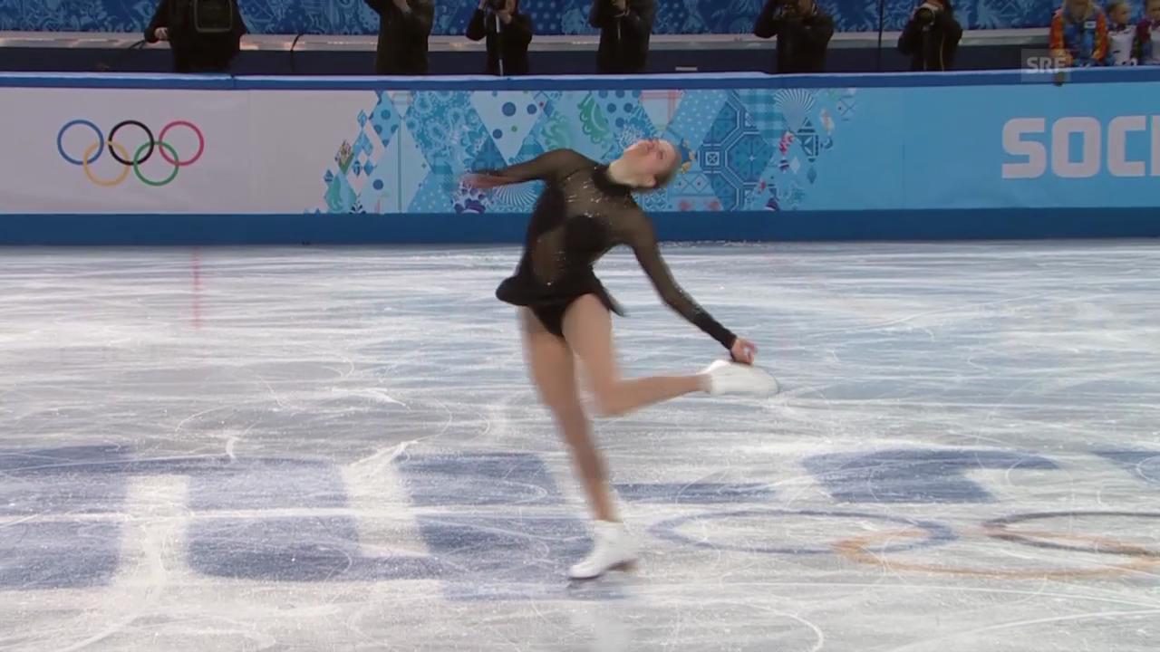 Eiskunstlaufen Frauen: Die Kür von Carolina Kostner (sotschi direkt, 20.02.2014)