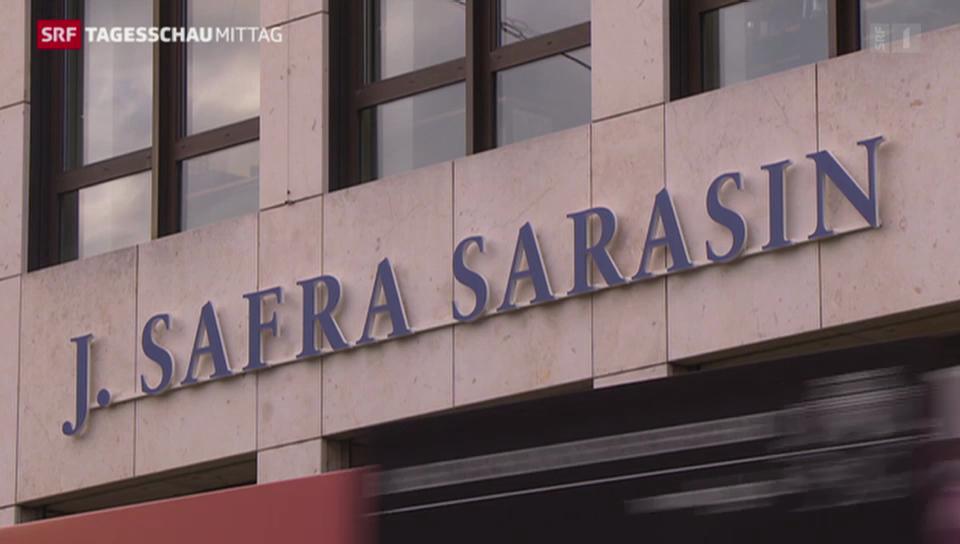 Grossrazzia bei Bank Sarasin