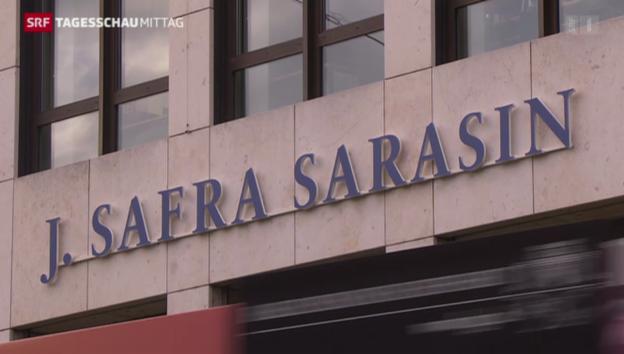 Video «Grossrazzia bei Bank Sarasin» abspielen