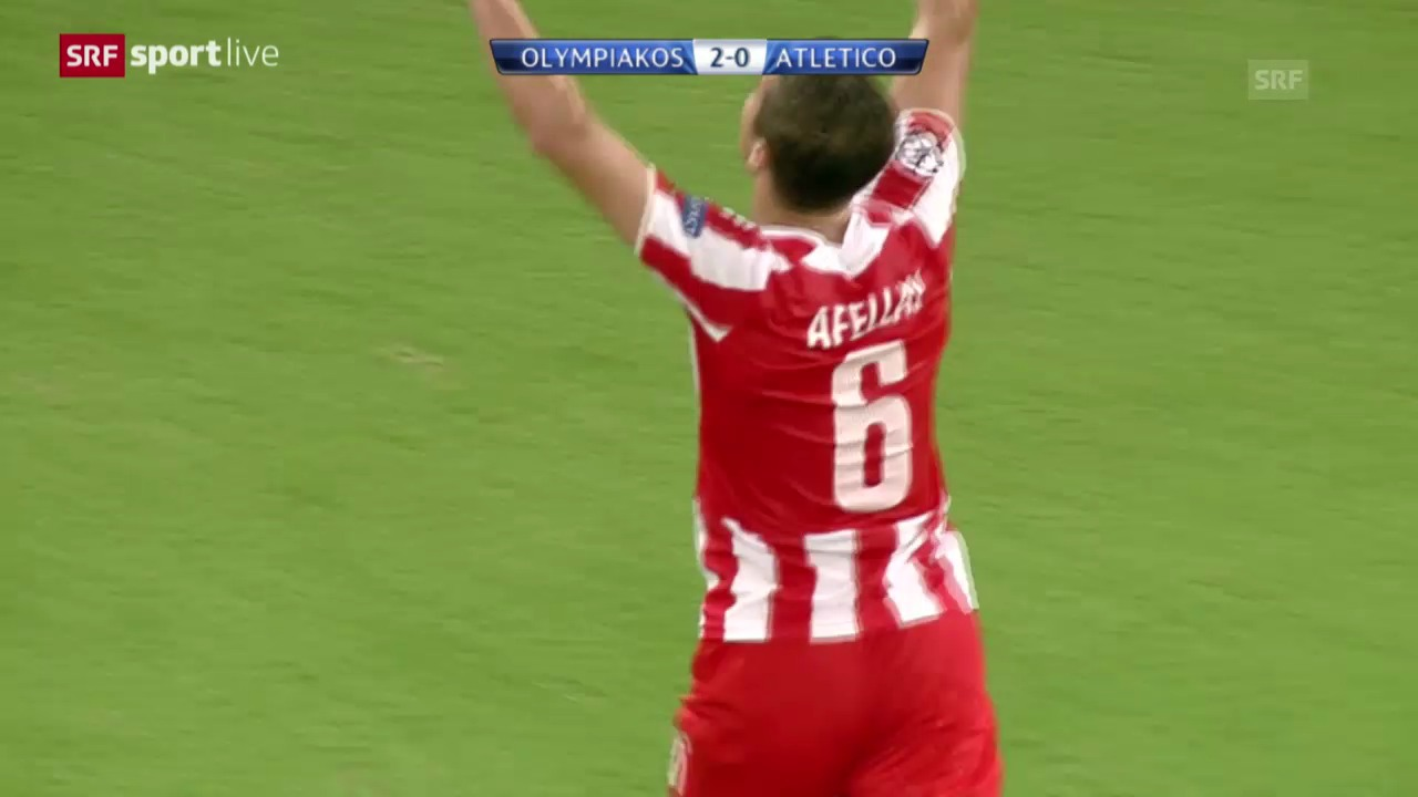 Fussball: Champions League, Olympiakos - Atletico