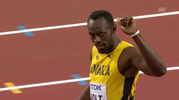 Video «Bestens gelaunter Bolt locker im Halbfinal» abspielen