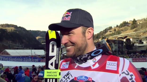 Video «Ski: SG Gröden, Interview Svindal» abspielen