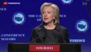 Video «Auch Clinton fordert Verschärfung des Waffengesetzes » abspielen