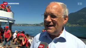 Video «Schneider-Ammann ruft zum Teamgeist auf» abspielen