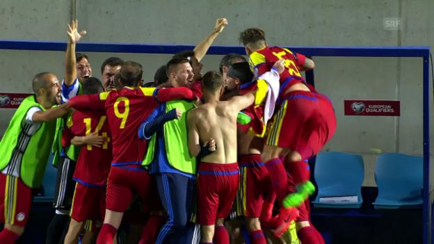 Video «Ungarns Riesenblamage in Andorra» abspielen