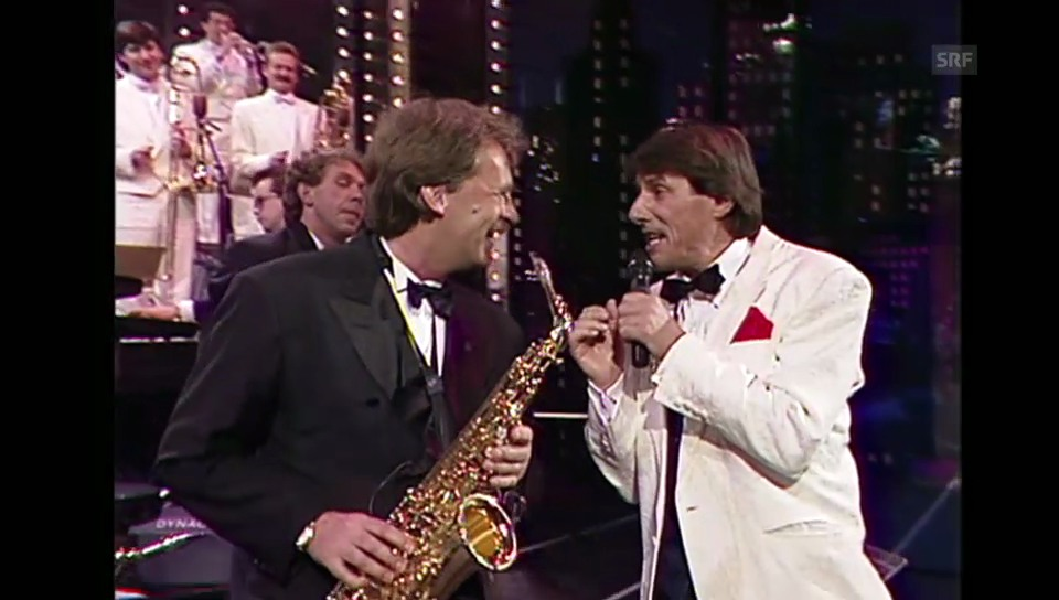 Udo Jürgens und Pepe Lienhard in der Sendung «Supertreffer»