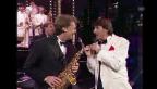 Video «Udo Jürgens und Pepe Lienhard in der Sendung «Supertreffer»» abspielen