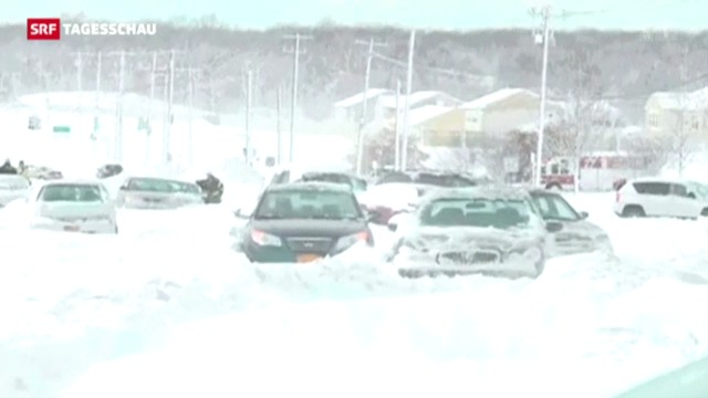 Schneesturm «Nemo» hinterlässt riesige Schneemassen