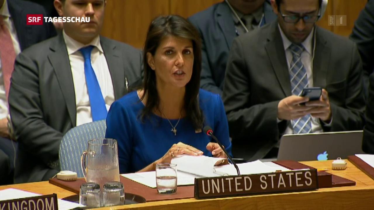 Schlagabtausch im UNO-Sicherheitsrat
