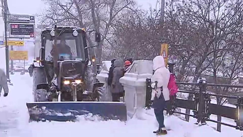 Impressionen aus dem verschneiten Moskau