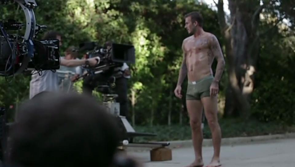 David Beckham beim Werbevideo-Dreh für eine schwedische Kleidermarke