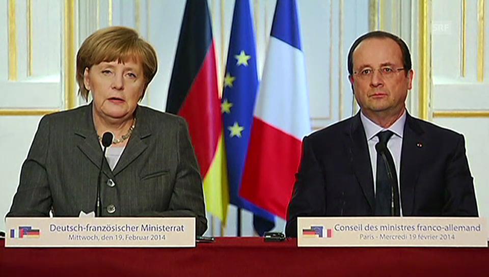 Merkel: «Es ist uns ernst.»