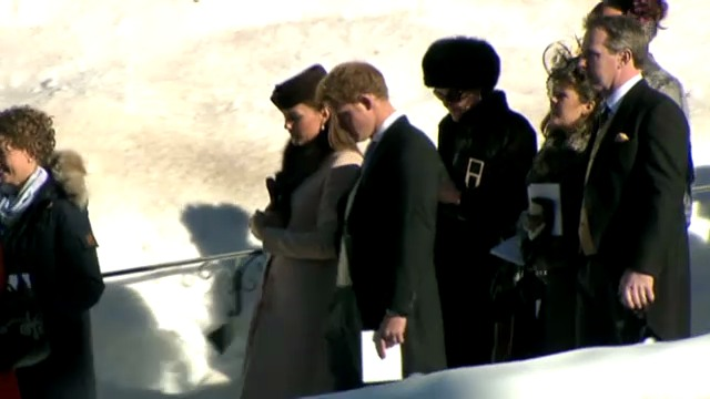 William und Kate in Arosa