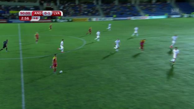 Video «Lettland schlägt Andorra knapp» abspielen