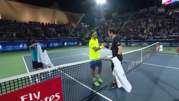 Video «Einige Punkte von Murrays Auftaktsieg gegen Jaziri» abspielen