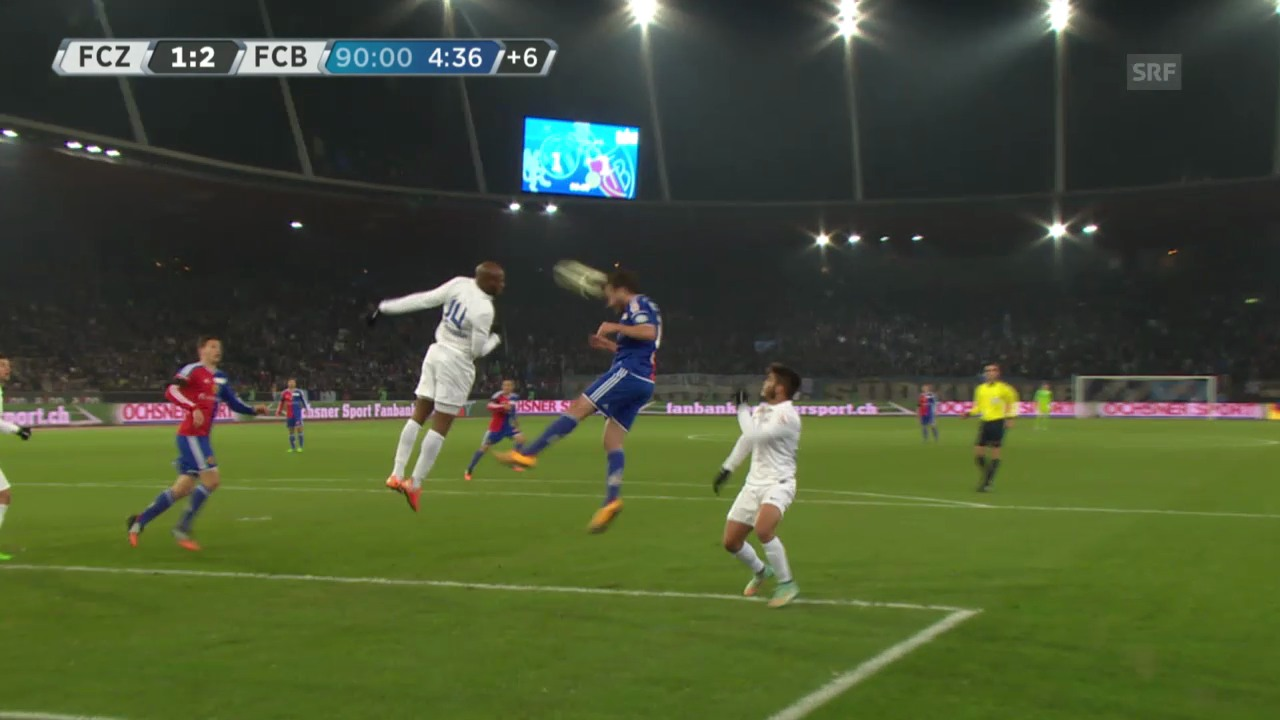 Fussball: Super League, FC Zürich - FC Basel, die Tore