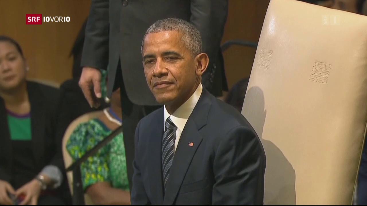 Obama: Globale Flüchtlingskrise gemeinsam beenden