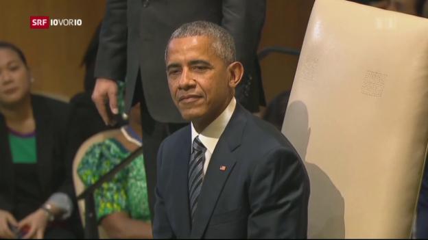 Video «Obama: Globale Flüchtlingskrise gemeinsam beenden» abspielen