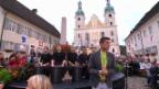 Video «Guete Abig Song mit der Drumband «Stickstoff»» abspielen