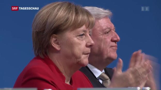 Video «CDU feiert Angela Merkel» abspielen