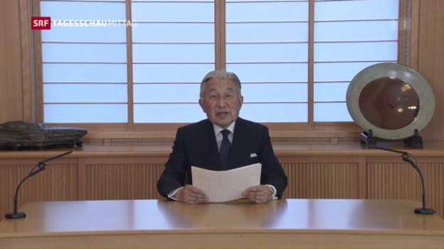 Video «Kaiser Akihito: Ungewöhnliche Ansprache ans Volk» abspielen