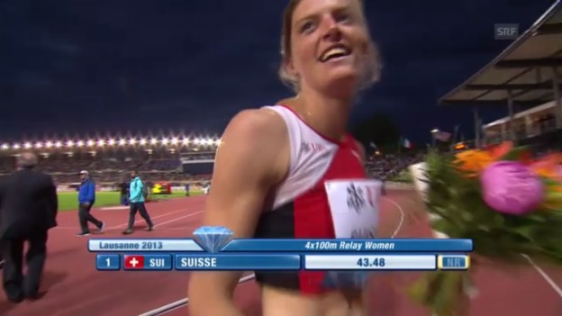 Video «4x100 m Frauen» abspielen