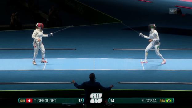 Video «Géroudet scheitert in der 1. Runde» abspielen