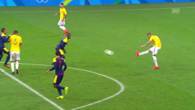 Video «Brasilien schafft es ins Halbfinal» abspielen
