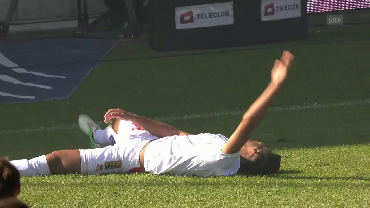 Cümart verletzt sich gegen Luzern an der Schulter