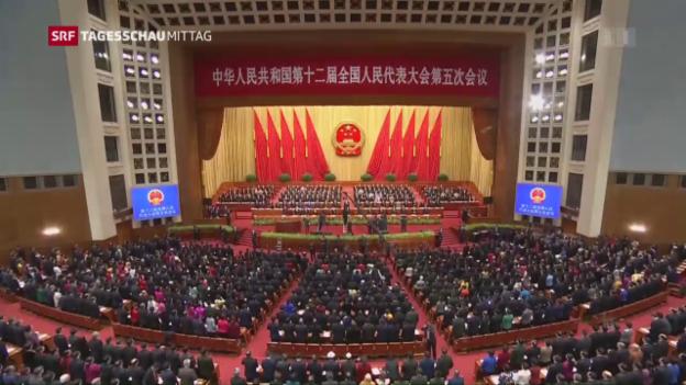 Video «Eröffnung Volkskongress China» abspielen