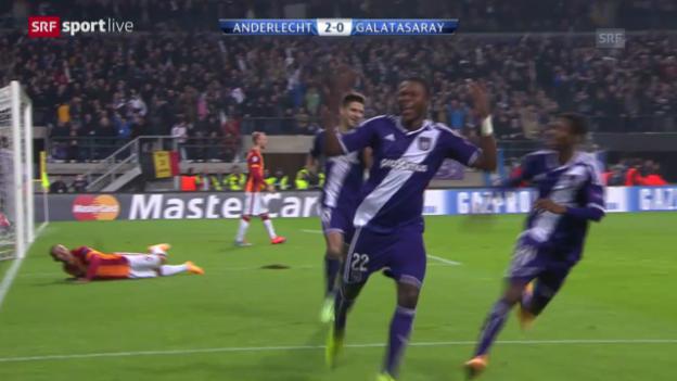 Video «Zusammenfassung Anderlecht-Galatasaray» abspielen