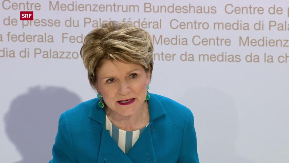 Aus dem Archiv: Marie-Gabrielle Ineichen-Fleisch an einer Pressekonferenz im Mai 2020.