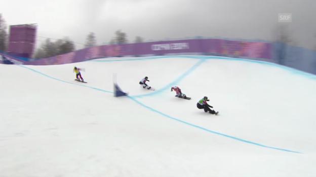 Video «Snowboard: Boardercross Männer, Achtelfinal Marvin James (sotschi direkt, 18.2.2014)» abspielen