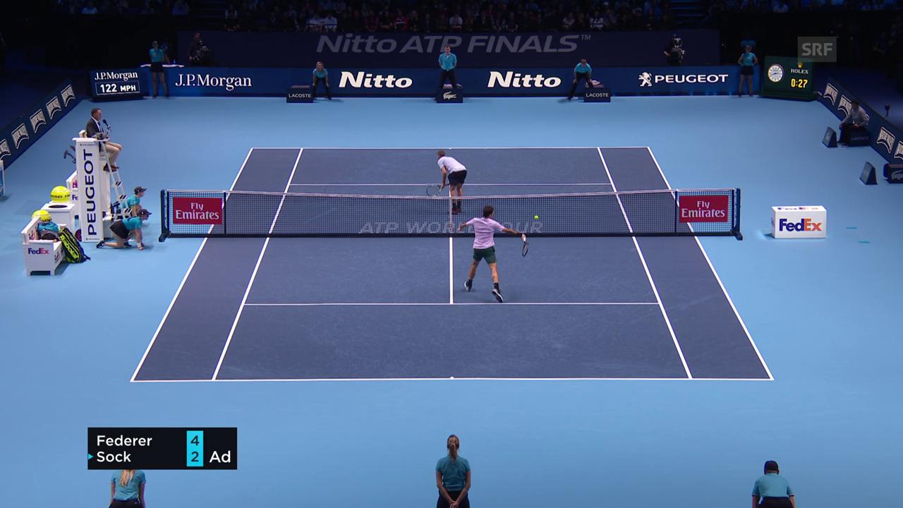 Federer nimmt «Penalty-Geschenk» nicht an
