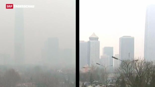 Video «Smog bringt chinesische Regierung in Bedrängnis» abspielen
