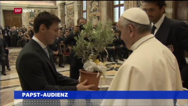 Video «Papst Franziskus empfängt Buffon, Messi und Co.» abspielen