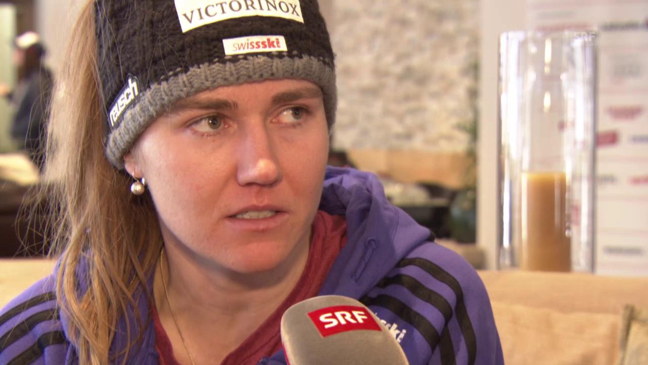 Ski alpin: Fabienne Suter vor dem 1. WM-Rennen