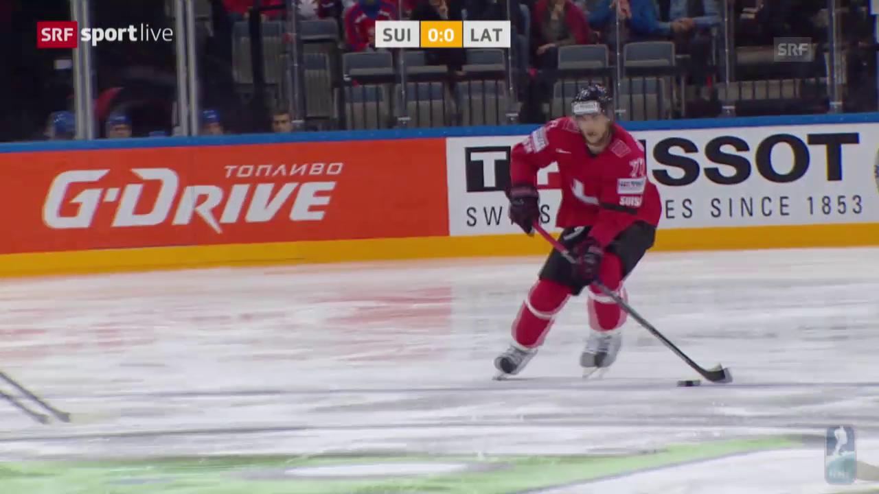 Eishockey-WM: Schweiz - Lettland, Zusammenfassung
