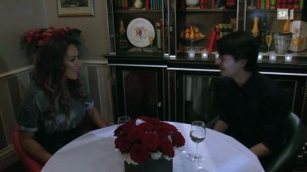 Video «Stéphane Lambiel trifft zum ersten Mal auf Leona Lewis» abspielen