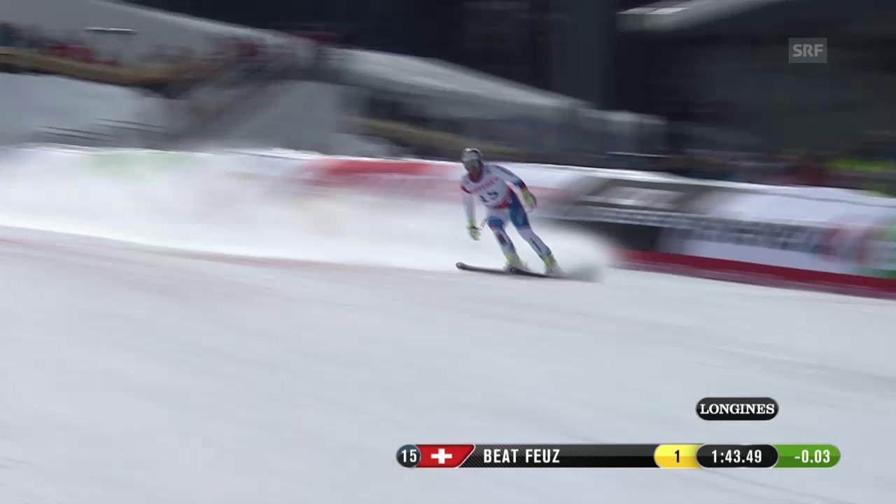 Ski: WM Beaver Creek, Abfahrt Männer, Fahrt von Beat Feuz