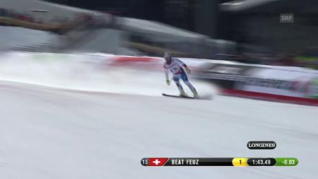 Video «Ski: WM Beaver Creek, Abfahrt Männer, Fahrt von Beat Feuz» abspielen