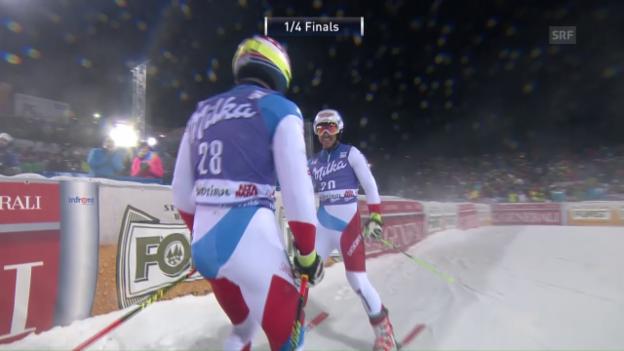 Video «Janka gewinnt den Schweizer Viertelfinal gegen Caviezel» abspielen