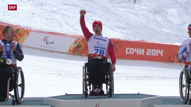 Video «Paralympics: Gold an Christoph Kunz («sportaktuell»)» abspielen
