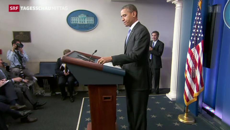 Obama spricht über Regierungsjahr 2013