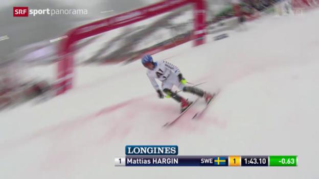 Video «Ski alpin: Weltcup der Männer, Slalom Kitzbühel» abspielen