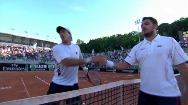 Tennis: ATP Rom, Wawrinka-Berlocq