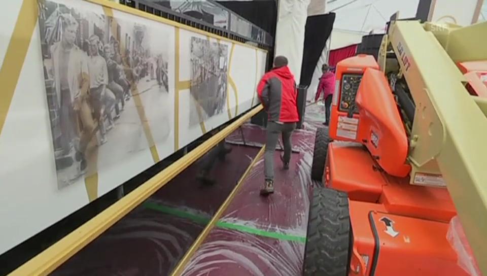 Alarmstufe Rot: Der Teppich vor «Dolby Theatre» ist durchnässt (unkommentiertes Video)