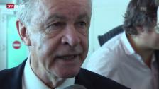 Video «Nati-Trainer Ottmar Hitzfeld zu Seferovic» abspielen
