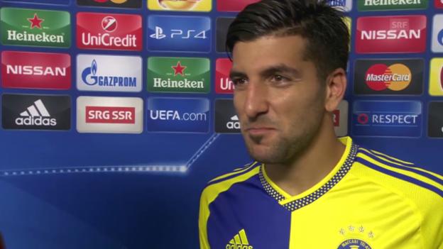 Video «Fussball: Basel-Maccabi, Interview Rikan» abspielen